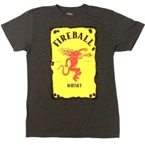 Fireball Whiskey graphic tee T-shirt logo top Red